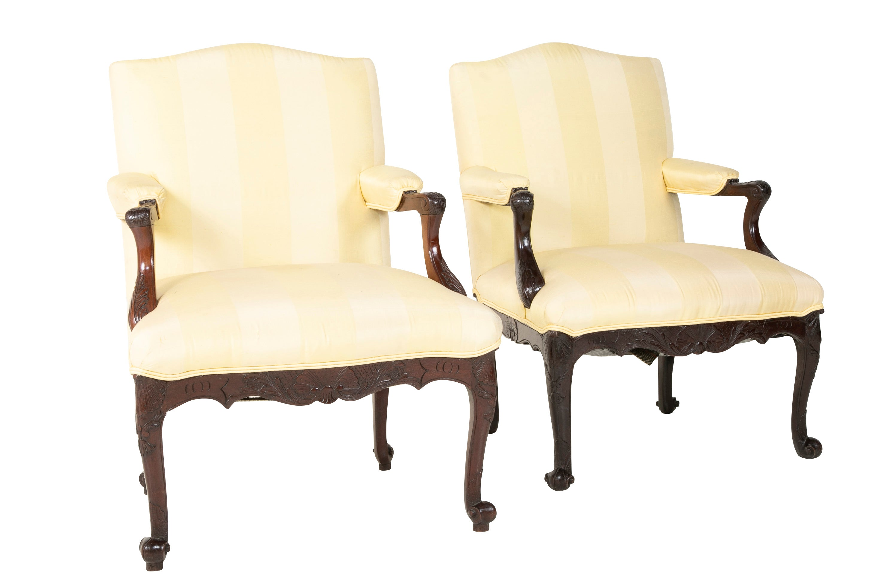 A Pair of English George III Period Library Chairs