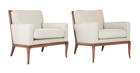 A Matched Pair of T.H. Robsjohn Gibbings Armchairs