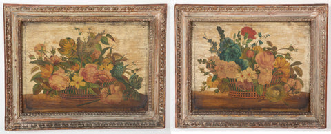 Pair of Italian Floral Still Lifes