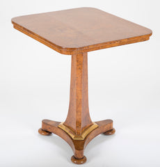 Burlwood Tilt-Top Table