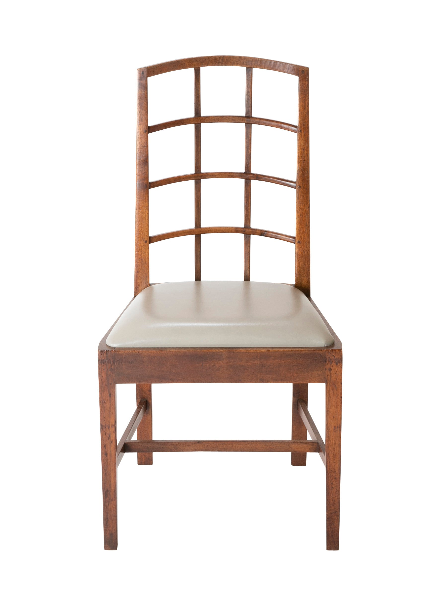 An English Arts & Crafts Style Lattice Back Chair by The Barnsley Workshop