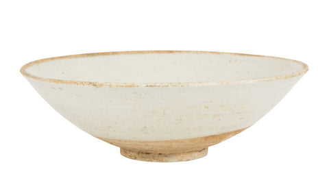 Yuan Type Glazed Bowl of Faint Celadon Color