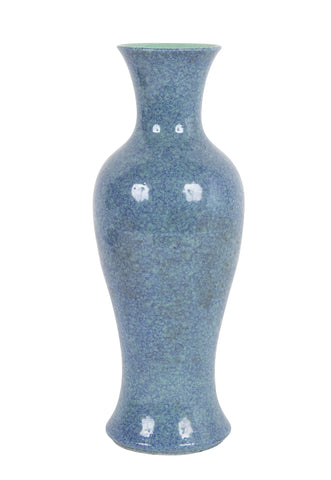 Robins Egg Blue Chinese Baluster Form Vase
