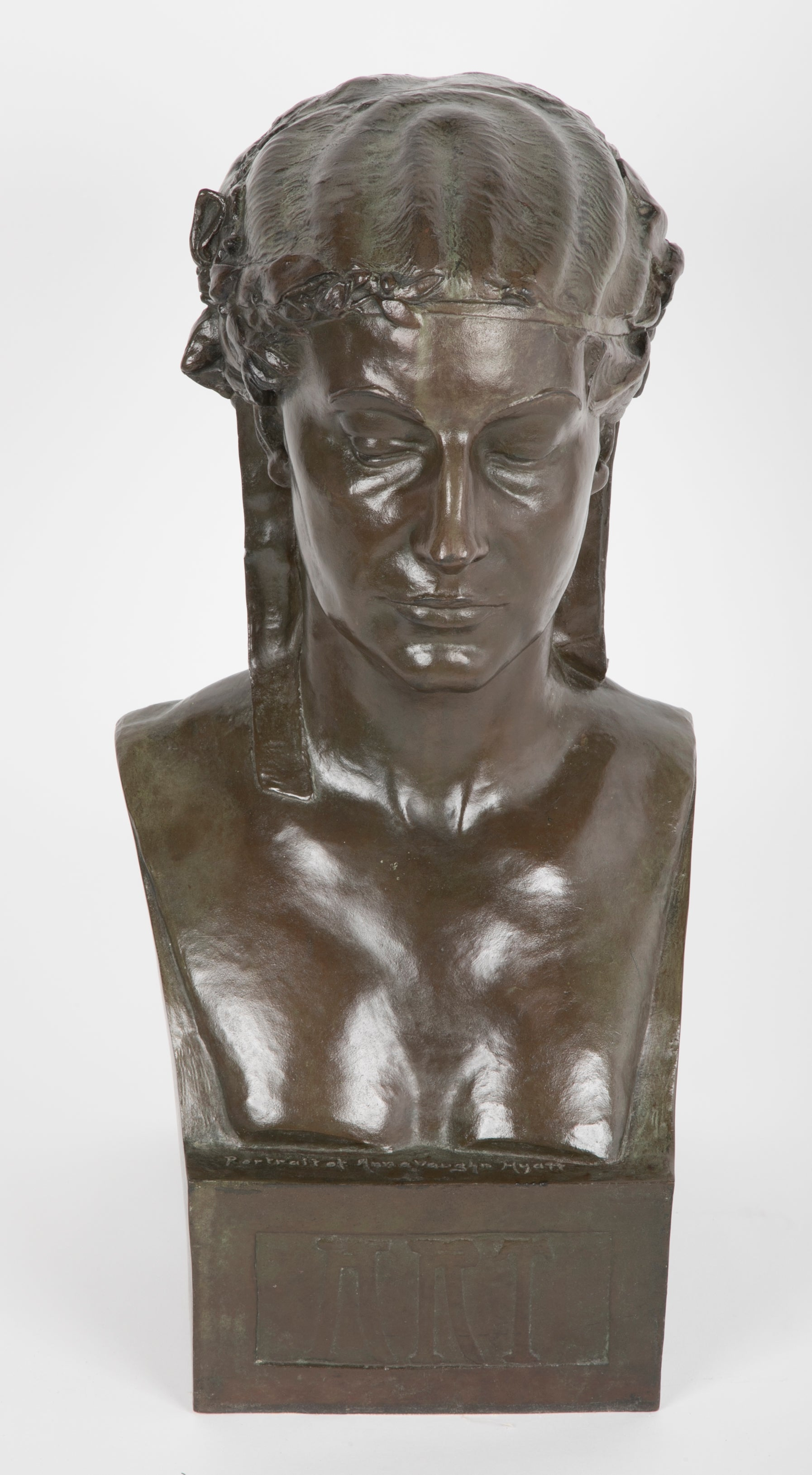 Two Sided Cast Bronze Bust by Harriet Hyatt Mayer