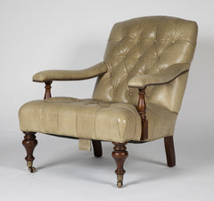 Tufted Leather Chesterfield Armchair