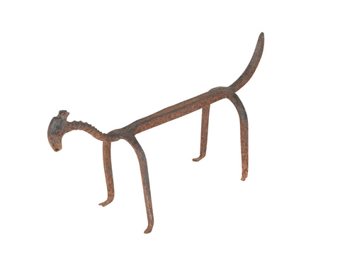 17th Century Italian Wrought Iron Anthropomorphic Fire Dog