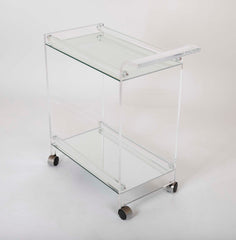 Lucite Glass Tea Cart