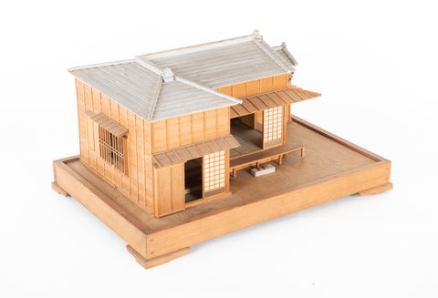 Post War Kiri Wood Model of a Japanese Home