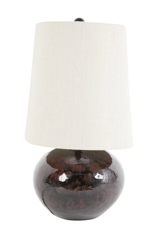 Red Glazed Ceramic Lamp