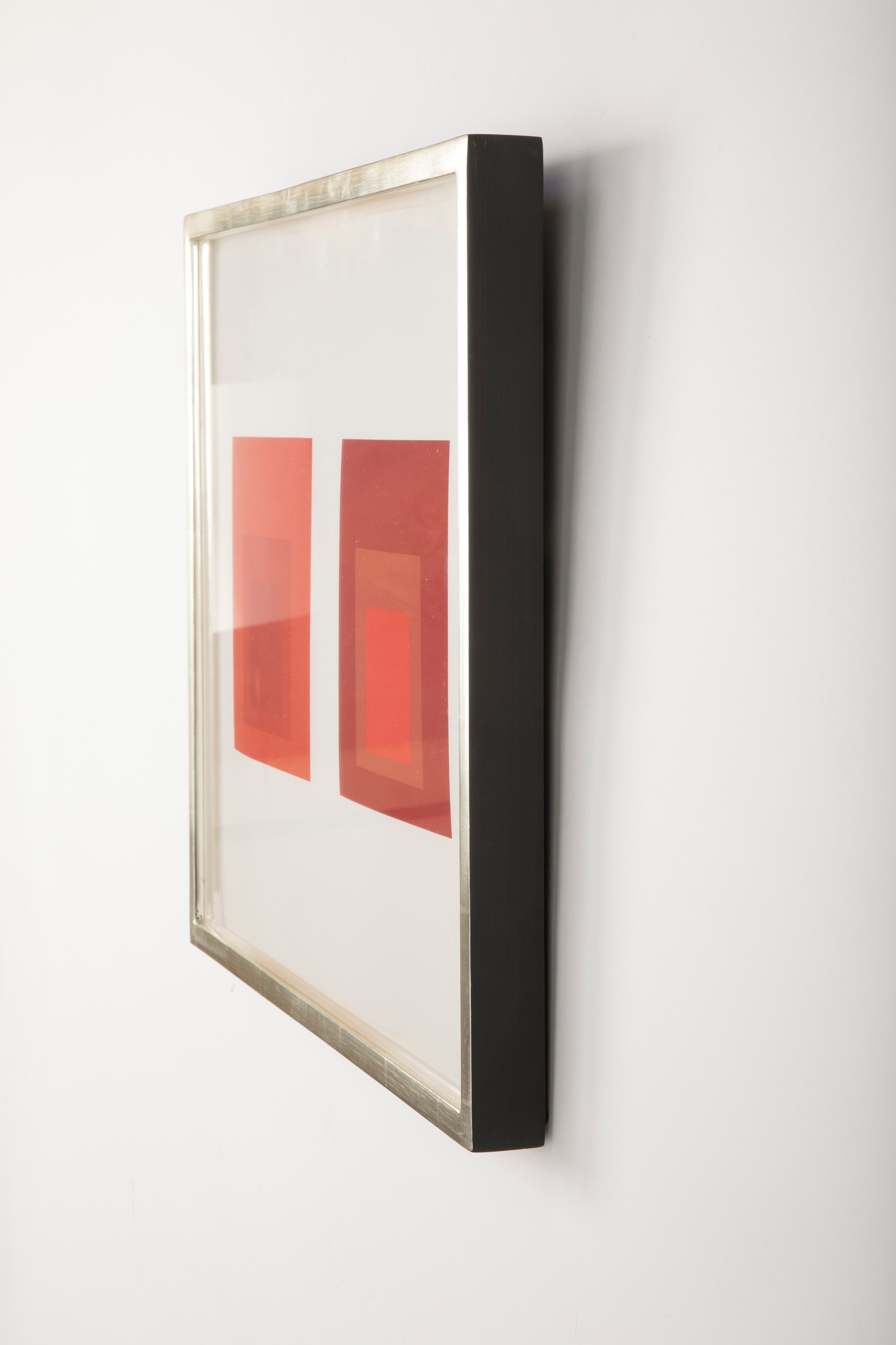 Joseph Albers Homage to the Square in Red.