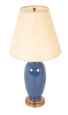 Chinese Blue Glazed Vase now a Lamp
