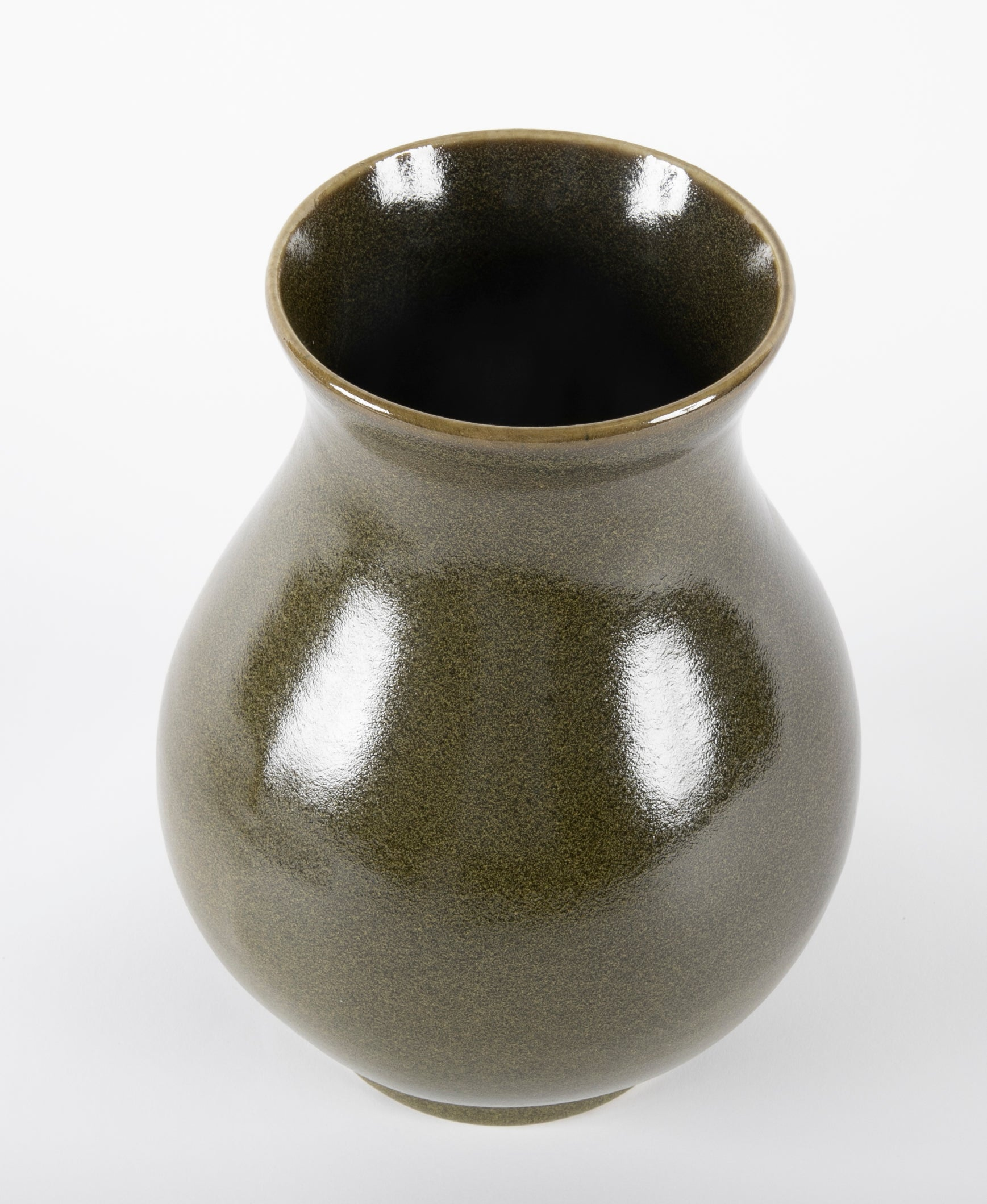 Asian Green Glazed Vase