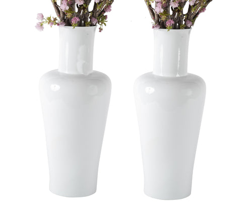 Pair of High Neck Vases