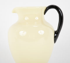 Handsome Steuben Yellow/Ivory Color Glass Pitcher