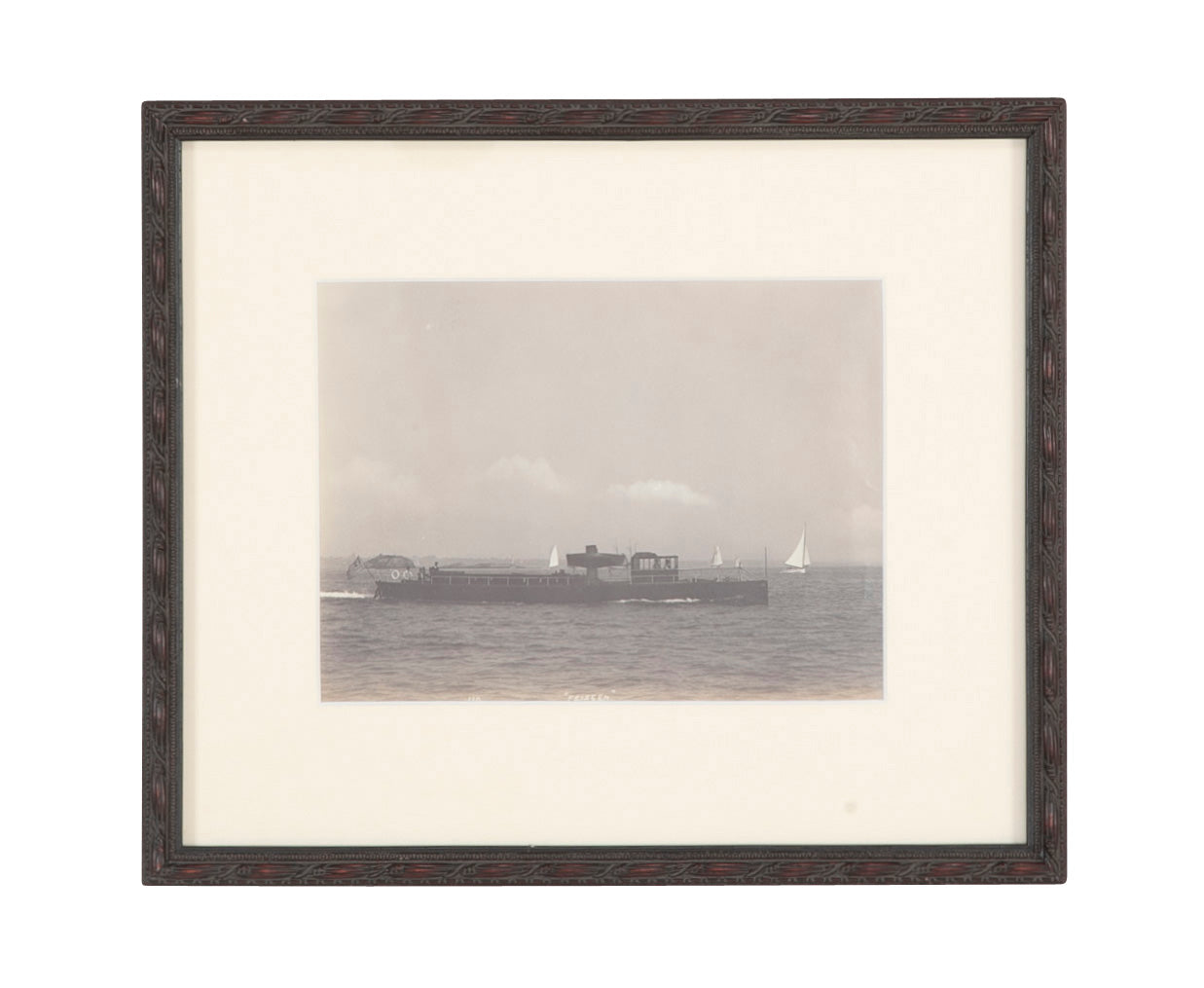 "Photograph of Very Famous Steam Yacht the 85' ""Feiseen"" Designed by Mosher & Gardner"