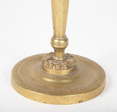 Directoire Bronze Footed Candlestick