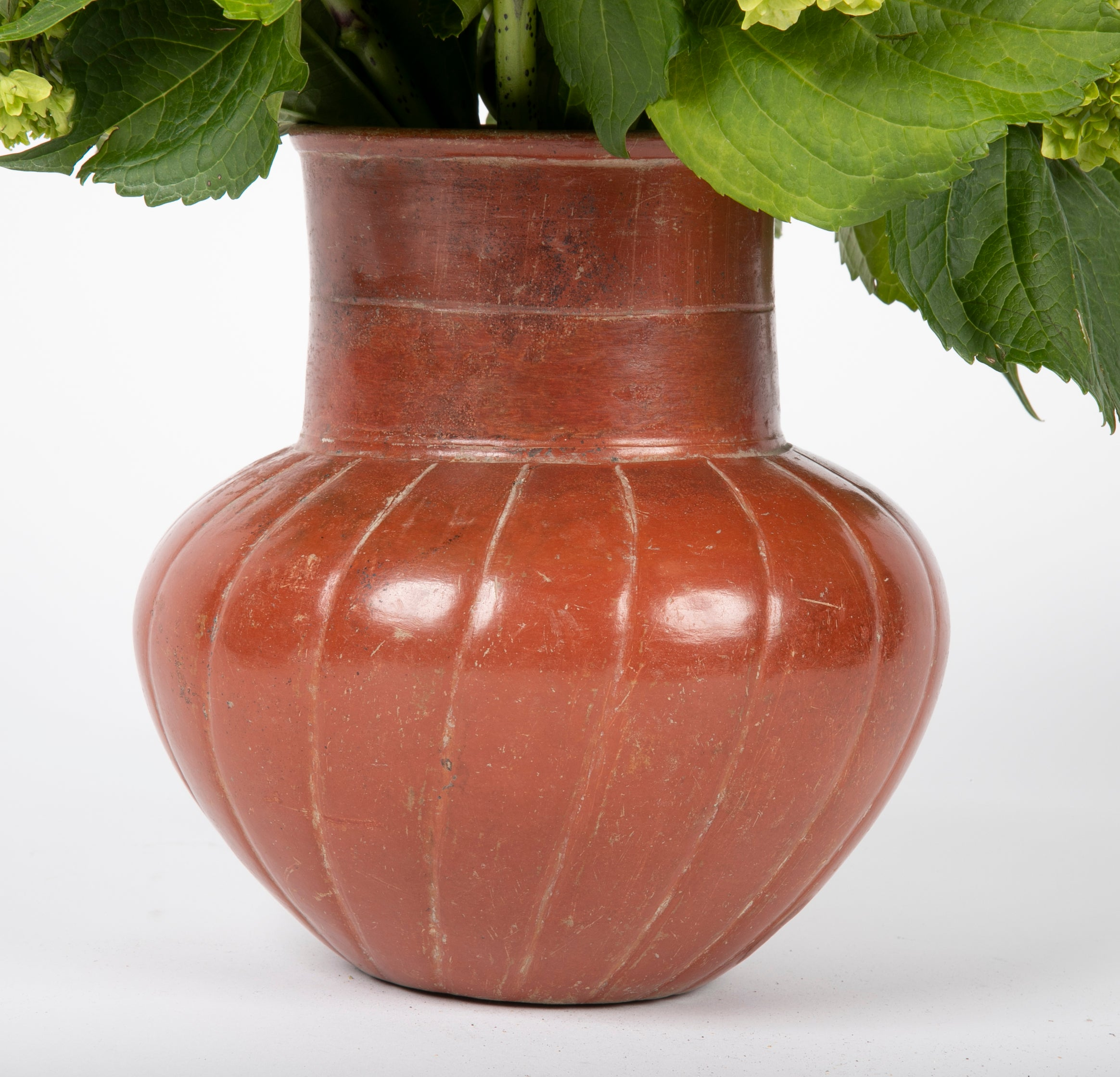 Earthenware Gadrooned Jar