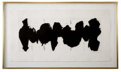 Robert Motherwell Etching and Aquatint, Running Elegy II, Blue State, 1983