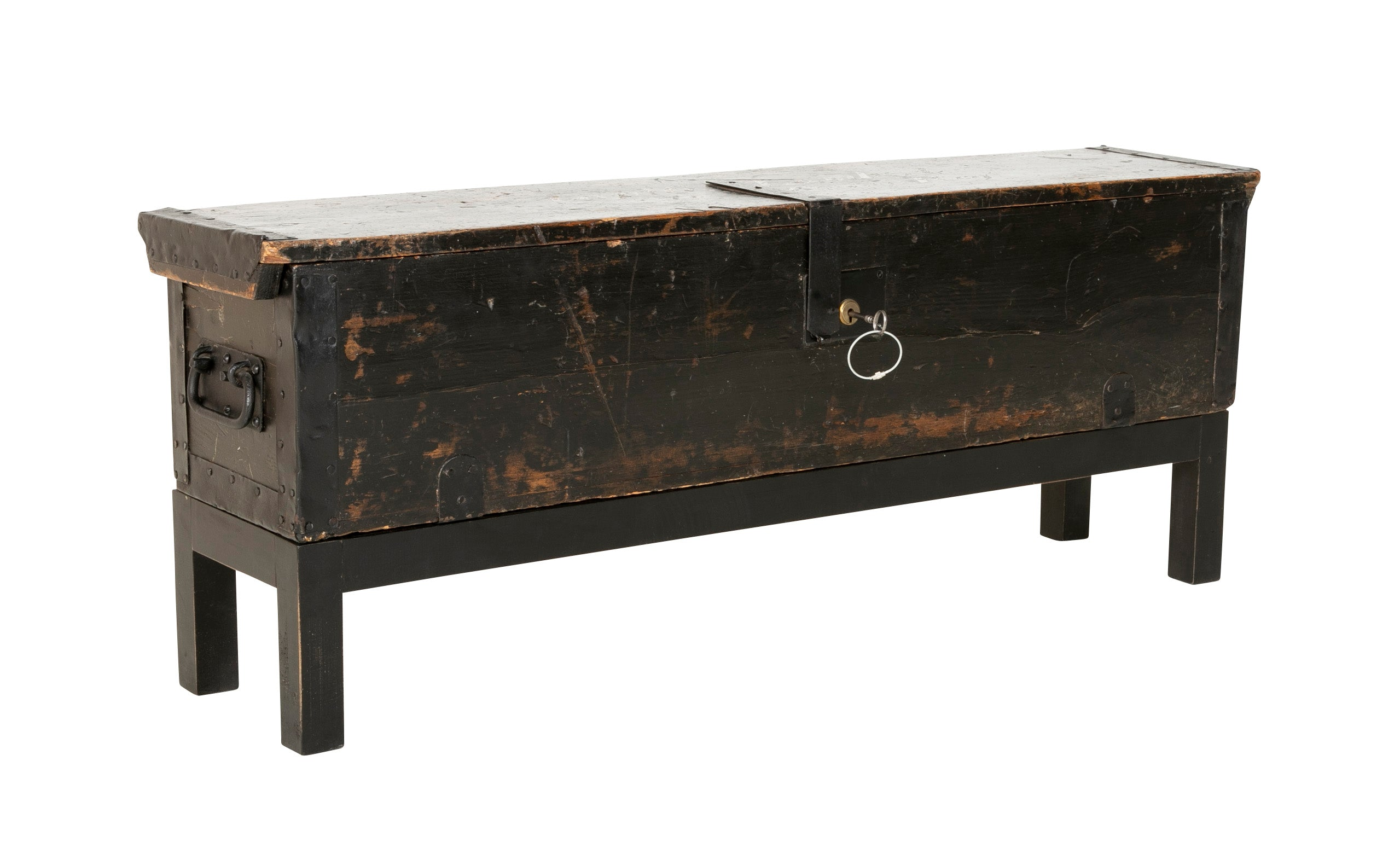 Late 19th Century British Officer's Campaign Bed with Original Storage Chest