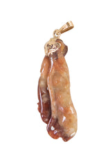 Gold Mounted Jade Pendant