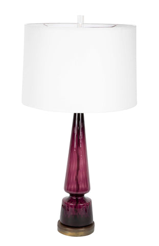 Amethyst Color Murano Glass Lamp