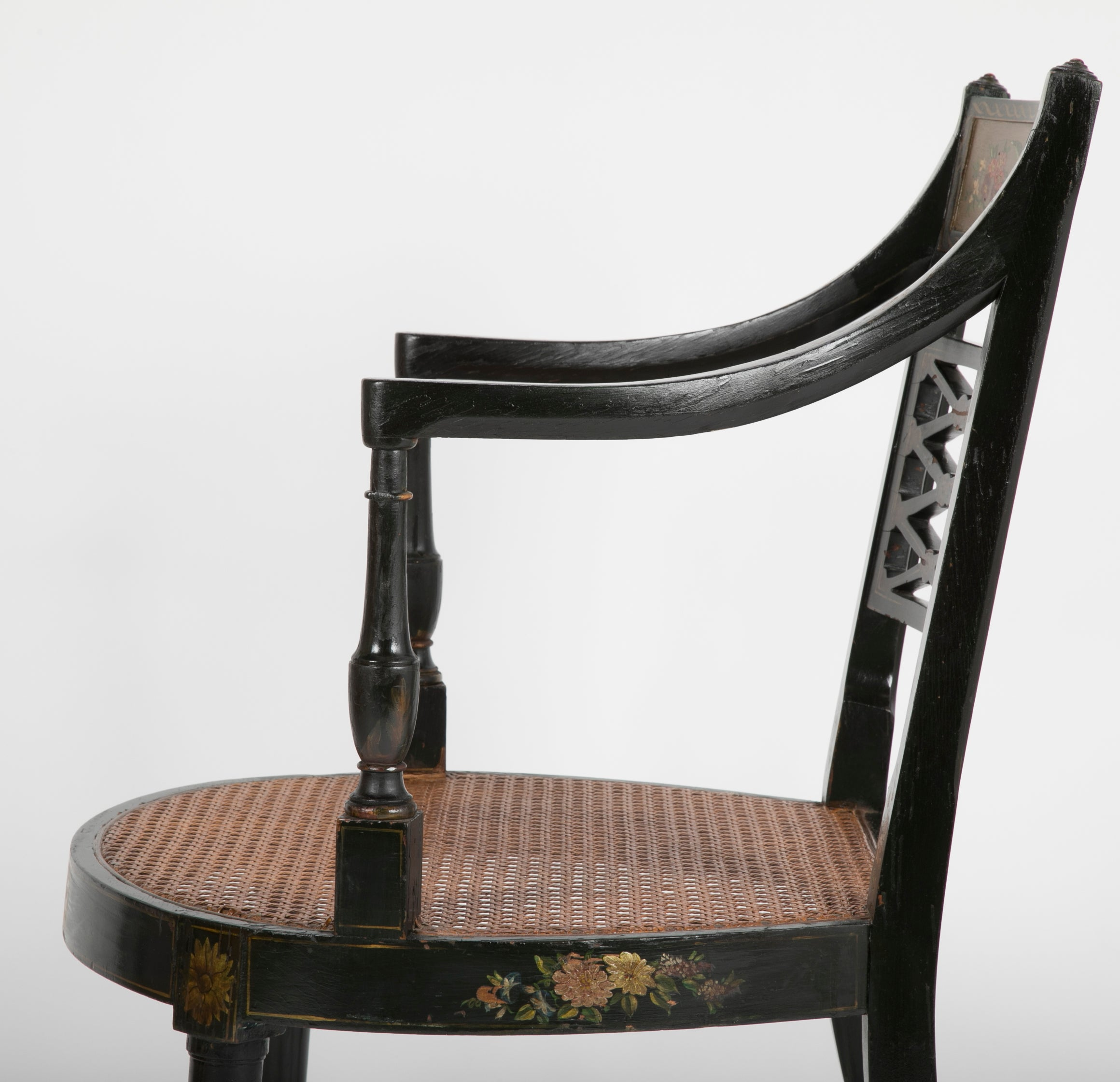 Regency Style Caned Armchair