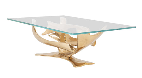 A Limited Edition Gilt Bronze Coffee Table Designed by Fred Brouard