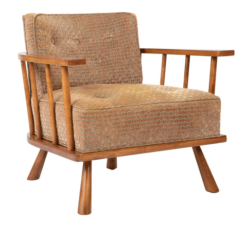 A T.H. Robsjohn Gibbings Barrel Back Arm Chair in Maple