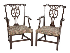 Pair of George III Style Armchairs