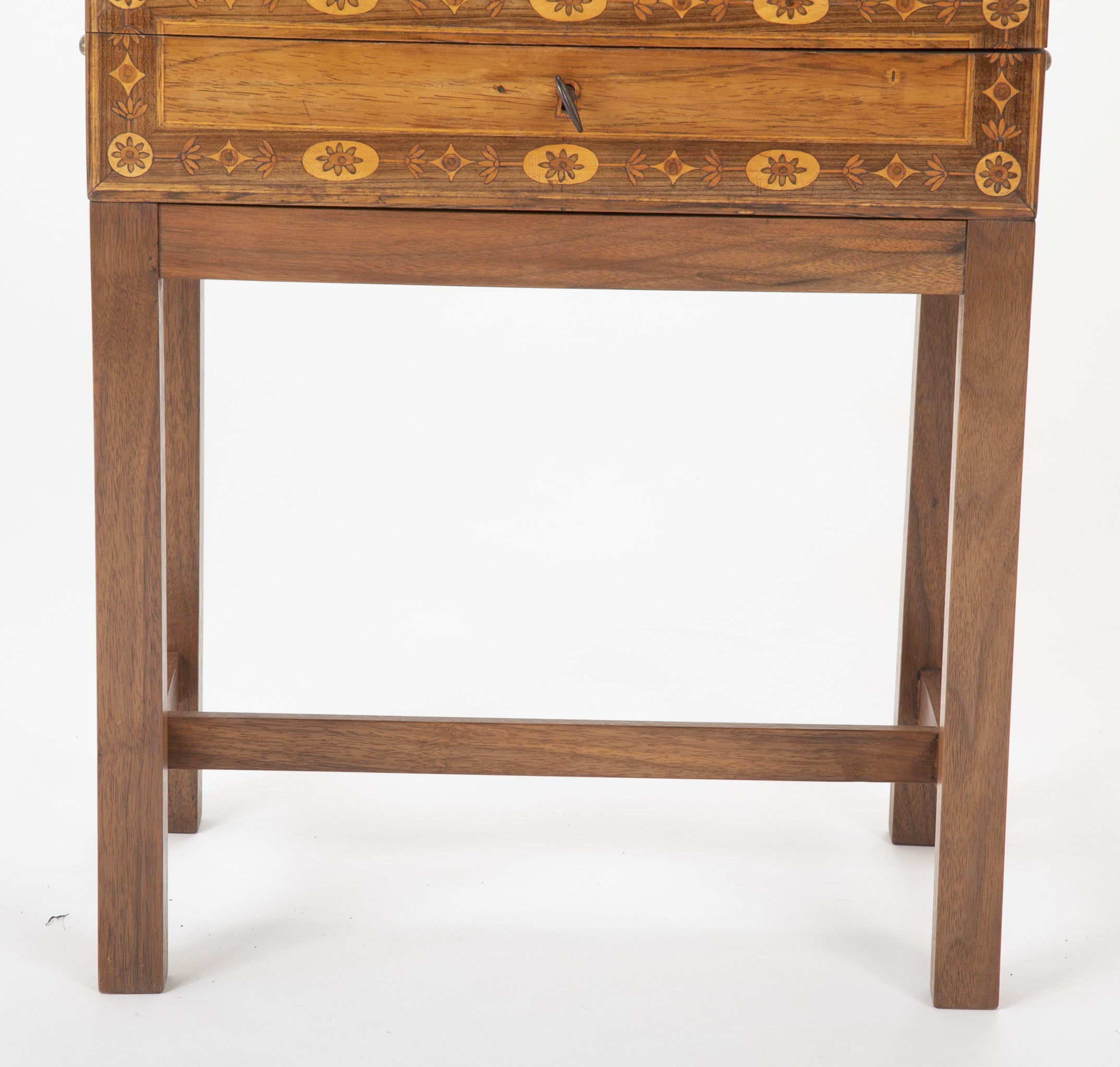 Late 18th Century Northern Italian Travel Desk on Modern Stand