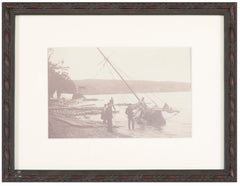 "Antique Yachting Photograph ""Ashore on Lake Champlain"""