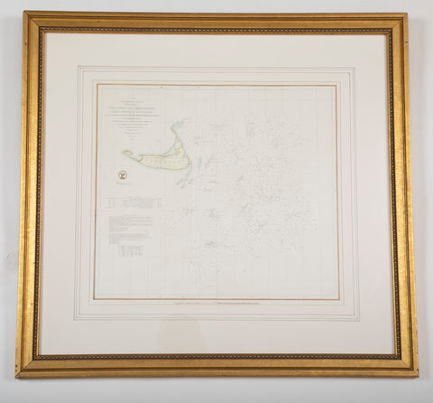 "Original 1853 US Nautical Chart of ""Davis Shoal and Other Dangers"""