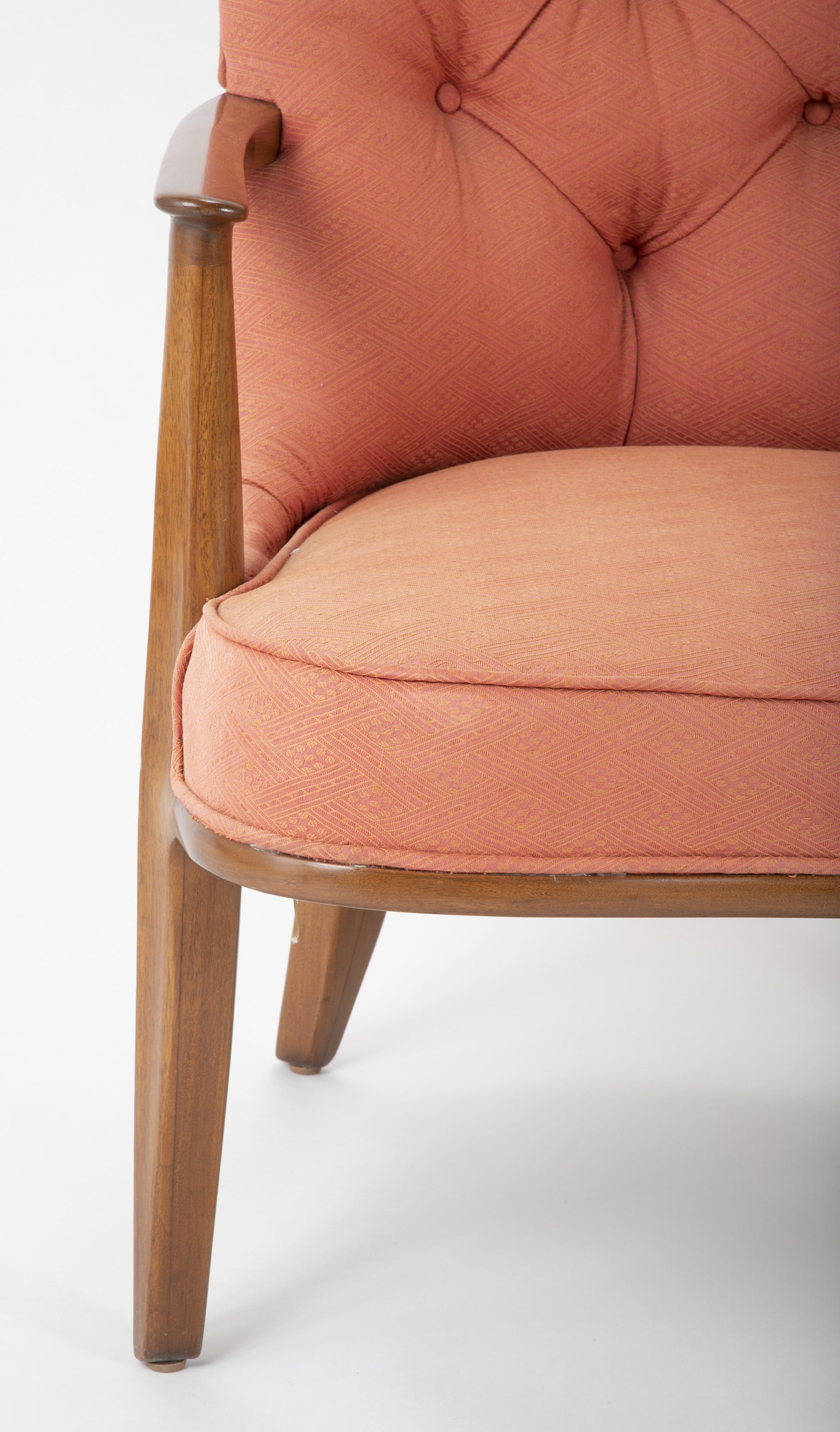 Pair of Edward Wormley Walnut Armchairs for The Janus Collection of Dunbar