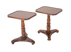 Pair of English William IV Rosewood Cocktail Tables, Circa 1840