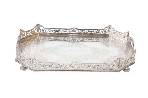 Sheffield English Silver Plated Tray