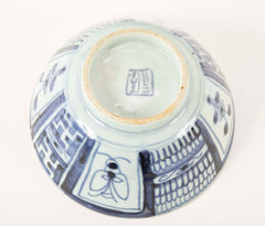 A Collection of Kangxi Blue & White Plates and Bowls