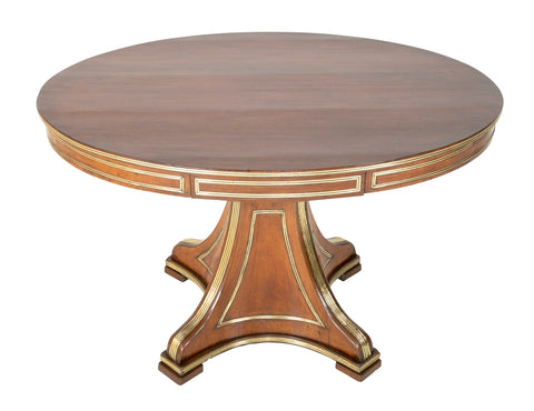 Neoclassical Mahogany Brass Mounted Oval Center Table