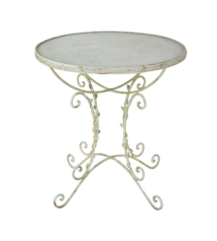 Early 20th Century Wrought Iron Garden Table