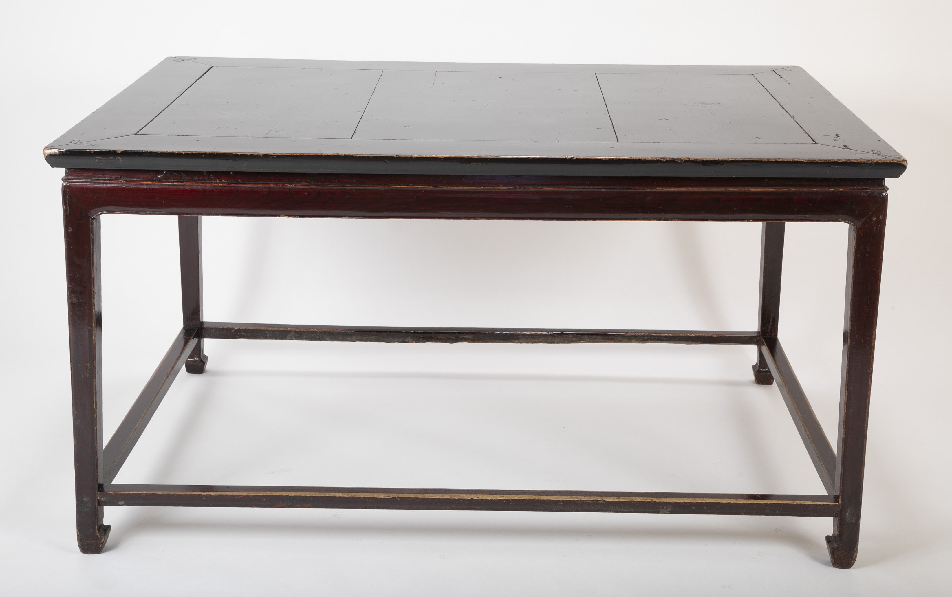 A Late 19th Century Large Chinese Black Lacquered Center Table