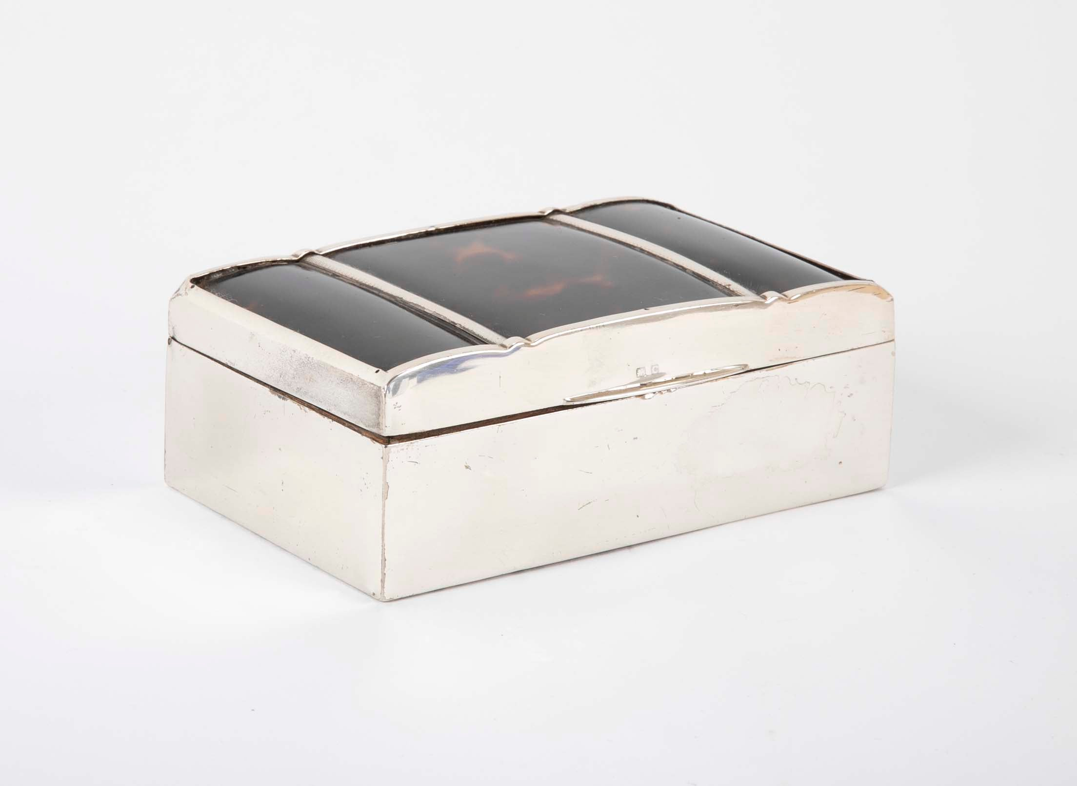 Antique English Sterling Silver Box