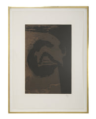 """Primal Sign V (Copper)""  Aquatint and Etching by Robert Motherwell"