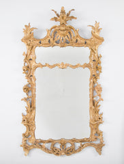 English Chippendale Period Gilt Wood Mirror