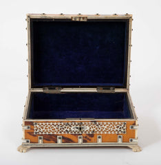 Faux Tortoise Shell and Bone Box