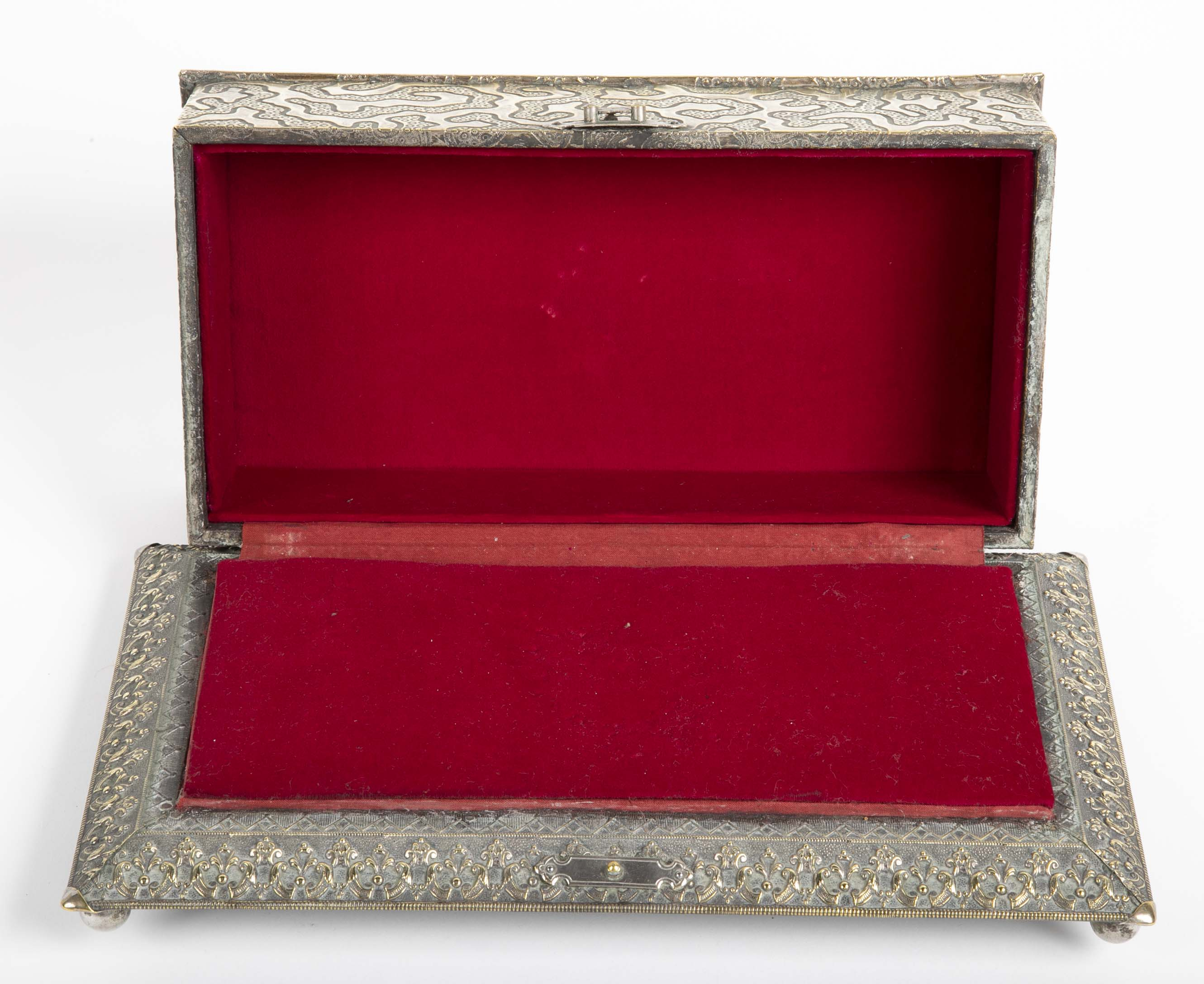 Aesthetic Movement Silver Presentation Box