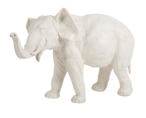 Large Schierholz Bisque Porcelain Elephant