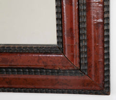 Dutch Mirror with Ebonized and Faux Tortoise Shell Frame