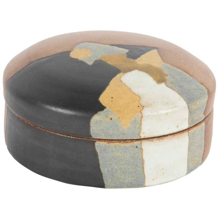Covered Stoneware Box by Charles Rothschild for Barlow Pottery