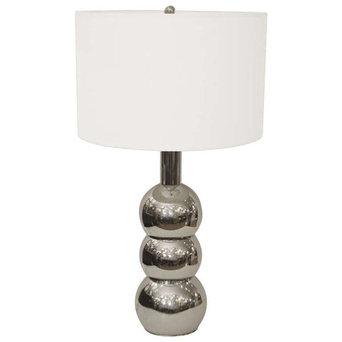 Stacked Chrome Orb Table Lamp in the Style of George Kovacs