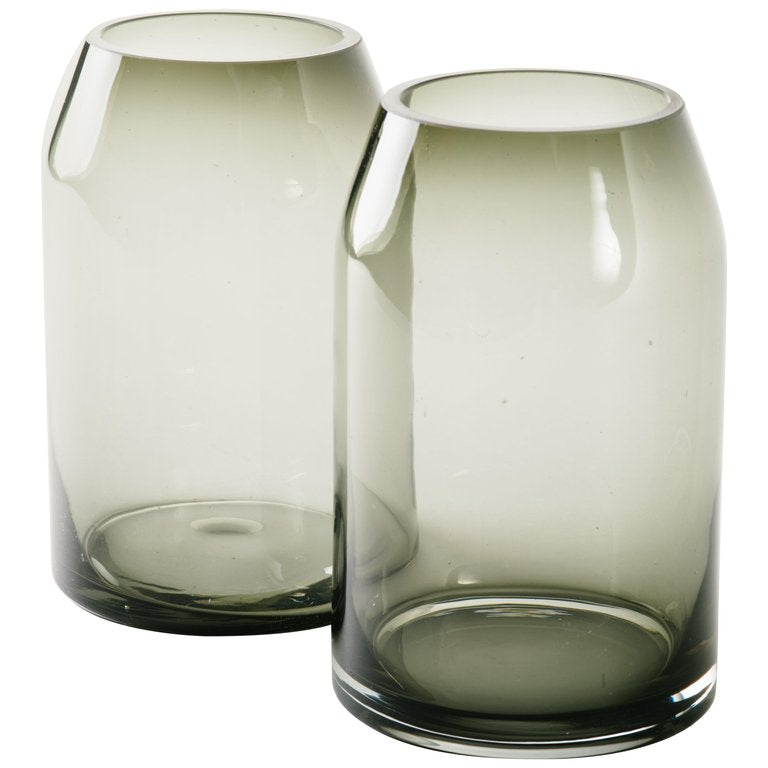 Pair Of Vintage Sommerso Smoked Glass Vases Avery Dash Collections