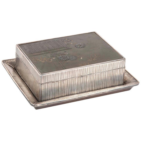 Japanese Sterling & Mixed Metal Box